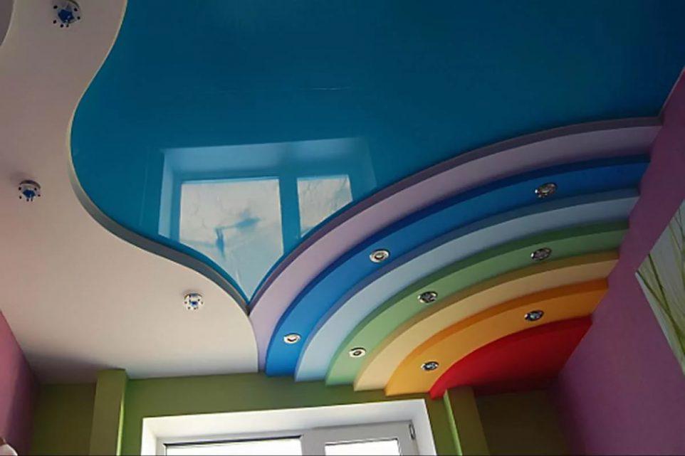Двухуровневые натяжные потолки в Лыткарино
